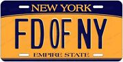 Genuine, Fully Authorized New York State Dmv License Plate Letters - Fd Of Ny