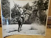 Hall Of Famer Cowboy Gus Bartley And Northwestern Devere Helfrich 8x10 Rodeo Photo