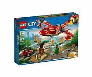 Lego City Town 60217 Fire Plane Water Cannon Firefighting Rescue Firemen New