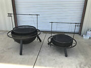 New 36 Custom Fire Pit, Cowboy Cooker, Santa Maria Style Grill