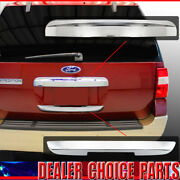 2008-2014 Ford Expedition Chrome Liftgate Tailgate Handle Covers Upper+lower