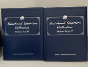 Postal Commemorative Society Usa Statehood Quarters Complete Collection 2 Volume