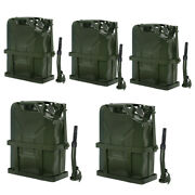 5x Jerry Can Fuel Tank Adjustable Holder Steel Army Backup Military Green