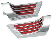1959 1960 1961 Chevrolet Impala Arm Rest Reflectors Chrome And Red New Set Of Two