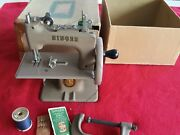 Vintage Singer Mini Sewing Machine Hand Crank Child's Miniature With C Clamp