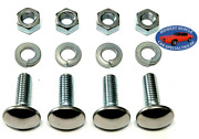 Gm Gmc 5/16-18x1 Stainless Capped Round Head Front Rear Bumper Bolts 4pcs K