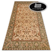 Traditional Agnella Carpet And039agnus And039flowers Beige Green Frame Best Quality