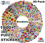 Stickers For Kids 80 Different Sheets 3d Puffy Bulk Kids Stickers For Girl And Boy