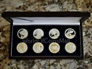 Apollo 11 50th Anniversary 8 Coin Set Numbered .999 Proof Silver In Wood Case