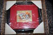 Framed Dominica 1989 Disney Mickey Minnie Mouse Donald Goofy In Hollywood Mint