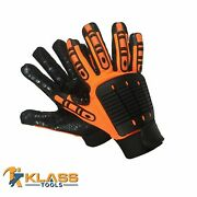 Anti-vibration Mechanic Gloves W/ Synthetic Leather 36 Pairs By Klasstools