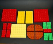 18 Lego Duplo Flat Base Plates Plate Lot Brown Green Yellow Red