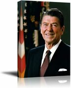 Wall26 - Portrait Of Ronald Reagan - American Presidents Series