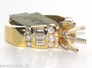 14k Solid Yellow Gold 1.21 Tcw All Natural Diamond Semi Mount Ring G Vs1 Size 6
