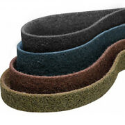 1.5 X 30 Surface Conditioning Belts Kit 1 Each Tan Red Blue Gray - 4 Pack