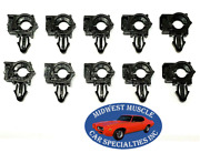 Ford 1/4 Id 3/8 Od Engine Wiring Harness Loom Routing Clamp Clip 10pcs Ss