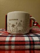 Starbucks 2014 Christmas You Are Here California Holiday Cup Ornament In Box Euc