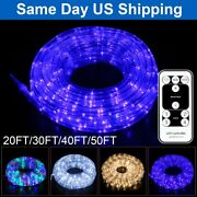 20-50and039 Outdoor/indoor Led Rope Light 4-lighting Mode Lights Flexible With Remote
