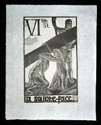 1920/1977 French Block Print The Way Of The Cross Jean Charlot 1898-1979mod6