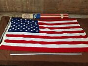 Valley Forge Pioneer 3and039x5and039 Cotton United States Flag Kit - Spring City Pa