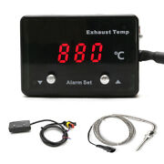 Car Modified Exhaust Temp Thermometer P-etm-01 12v Digital Display With Sensor