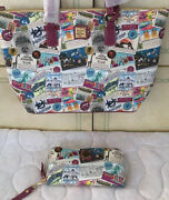 Disney Dooney And Bourke Dvc Tote And Wallet - Nwt Retired