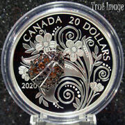 Low Coa L 2020 Bejeweled Bugs 3 Ladybug 20 Pure Silver Proof Coin Canada