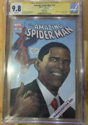 Amazing Spider-man 583 Obama 1st Print Cgc 9.8 Signed By Stan Lee Spiderman