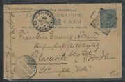 Jamaica Cover P0404bb 1900 Qv 1d Psc Midas Vale Sent To Germany