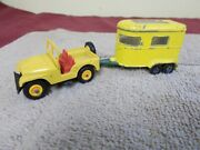 Vgt Original Matchbox Lesney Yellow Jeep With Trailer Lot 72--43 Farm Willys