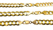 Authentic 14k Solid Yellow Gold Cuban Link Chain Necklace 7mm-9.5mm Size 16-30