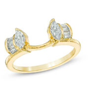 1/3 Ct Natural Diamond Solitaire Enhancer Ring Guard Wrap In 14k Yellow Gold