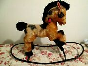 34 Antique Rocking Horse / Pony Mohair Made In France Vintage