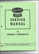 Ford Tractor Ferguson System Service Manual 216/951-1444 D8-225 Licensed Reprint