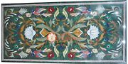 Green Marble Dining Table Furniture Malachite Inlay Art Inlay Patio Decor H3335