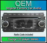 Dodge Nitro Cd Player Bluetooth Car Stereo, 05064925ag Aux Input With Radio Code