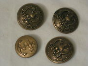 Vintage Metal Buttons Button Lot Eagle W/ Anchor Detail Military Navy 3 + 1