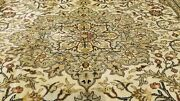 Beautiful Antique 1930-1940s Natural Dyeswool Pile Floral Hereke Rug 7x10ft