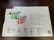 Cornell Communications Led Edge-lit Exit Sign, Surface Mount, Sn-b48ds