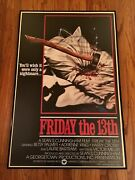 Nm Friday The 13th Original Movie Poster 1 One Sheet Framed 26x40 Jason Voorhees