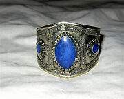 Signed Lapis Silver Cuff Bracelet Shreve And Co. Founded 1852