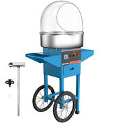 Cotton Candy Machine + Cart Cover Stainless Steel Store Floss Maker Blue Cover