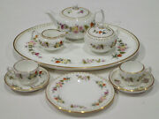 Discontinued Wedgwood Mirabelle 11 Piece Mini / Miniature Tea Set For Two Mint