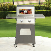 Cuisinart 2 Burner Bbq Gas Grill Barbeque Outdoor Cooking Stainless Side Tables