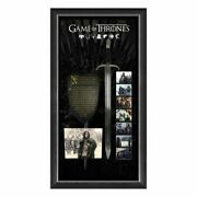Game Of Thrones Kit Harington Hand Signed Phtograph With Sword And Shield
