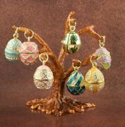 Fabergé Tree Egg Limited Edition Trinket Box Hand Made By Keren Kopal And Crystal