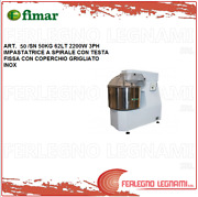 Mixer Spiral With Head Fixed 110.2lbs 62lt 2200w 3ph Fimar 50 / Sn