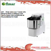 Mixer Spiral With Head Fixed 83.8lbs 42lt 1500w 3ph Fimar 38 / Sn