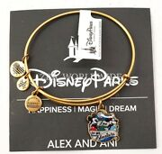 New Disney Alex And Ani Pin Event Love Is An Adventure Gold Bangle Bracelet