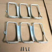1969 Ford Mustang Mach1 Tail Light Bezel, Screws Left And Right Hand Side Oem